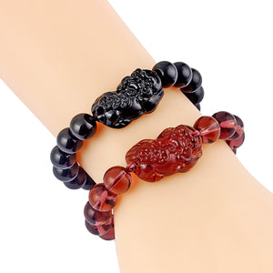 HoliStone FengShui Pixiu Bead Stretch Bracelet for Women and Men ? Anxiety Stress Relief Yoga Meditation Energy Balancing Lucky Charm Bracelet for Women and Men