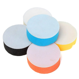 2TRIDENTS Set of 5 3-Inch Flat Polishing Sponge Pads - Kit for Car Sanding Polisher Buffer Wash Cleaning Set - Waxing Set - Car Auto Polisher
