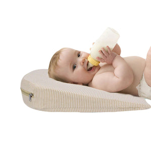 2TRIDENTS Baby Bassinet Wedge - Adjustable Cushion Supports Healthy Sleep and Eating with Carrying Case