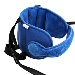 2TRIDENTS Baby Car Seat Head Support - Child Safety Car Seat Neck Relief Holder - Head Support A Comfortable Safe Sleep Solution (Blue)