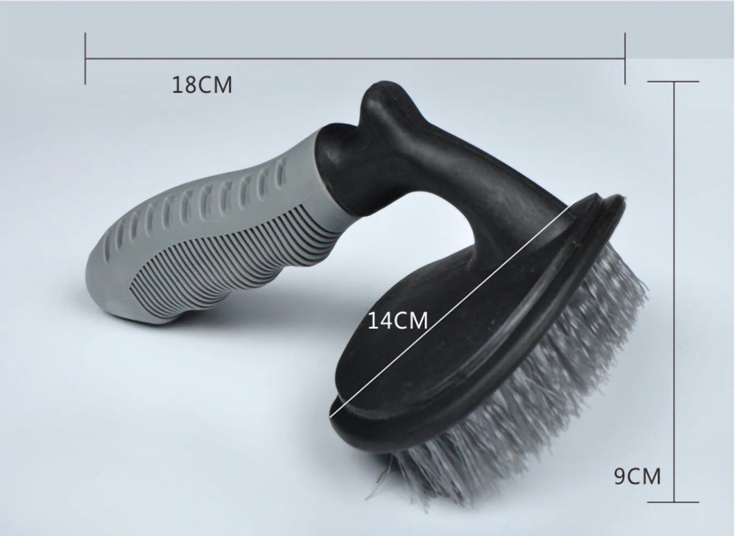 2TRIDENTS Tire Brush Cleaning Tool for Car Motorbike Bicycle Tire - Cleaning Brush for Tire & Wheels