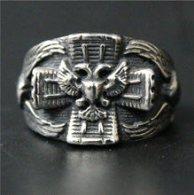 Load image into Gallery viewer, GUNGNEER Cross Masonic Eagle Ring Multi-size Freemasonry Accessory Jewelry For Men