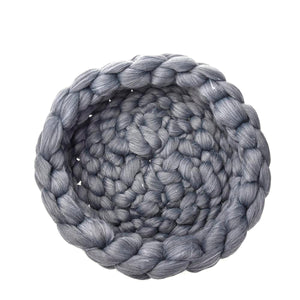 2TRIDENTS Hand-Knitted Pet Warming Nest - Cozy and Comfortable - The Best House for Your Cat, Dog and Pet (1, Gray)