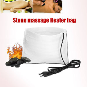 2TRIDENTS 220V Electric Hot Massage Stone Heater Bag - Perfect Tool To Retain The Heat Of Stones For A Long And Relaxing Massage