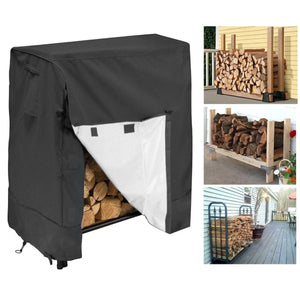 2TRIDENTS Waterproof Firewood Log Rack Cover All Weather Protection Cover Suitable for Indoor Outdoor Patio