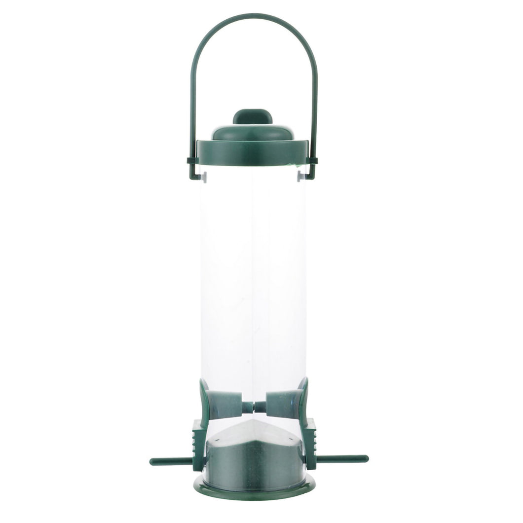 2TRIDENTS Wild Bird Feeder - Transparent Classic Tube Hanging Feeder for Birds Outdoor Yard Tree Home Decor