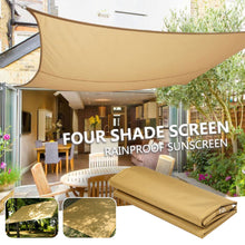 Load image into Gallery viewer, 2TRIDENTS 70 x 57 inch Canopy Shade Sail - Rectangle UV Block for Patio Deck Yard and Outdoor Activities