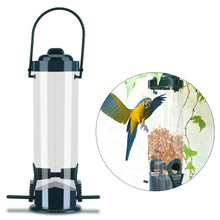 Load image into Gallery viewer, 2TRIDENTS Hard Plastic Outdoor Birdfeeder with Hanger - Hanging Feeders for Finches Bird Seed and More