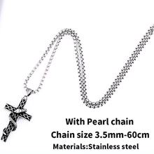 Load image into Gallery viewer, GUNGNEER Stainless Steel Cross Pendant Necklace Christ Jewelry Accessory Gift For Men Women