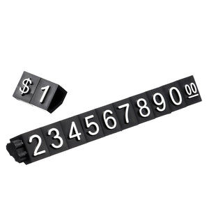 2TRIDENTS Price Tag Display Cube - Assembly Number Blocks Price Display Counter
