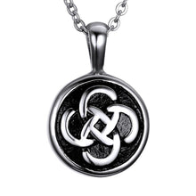 Load image into Gallery viewer, GUNGNEER Stainless Steel Cylinder Celtic knot Circle Round Pendant Necklace Jewelry Men Women