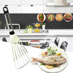 2TRIDENTS Stainless Steel Non Stick Thin Turner Spatula for Cooking Fish Baking Flipping Egg Cooking Improvement Tool