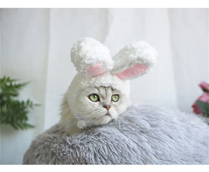 2TRIDENTS Cat Bunny Costume Headwear Party Costume for Pet Ideal Party Outfit for Pets
