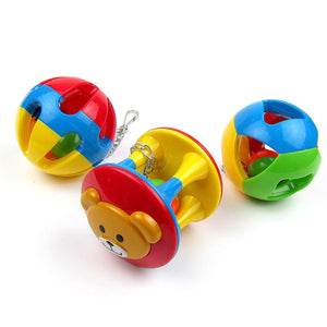 2TRIDENTS Colorful Parrot Ball Toy Chewing Biting Toy for Birds Hanging Toy Cage Decor Entertainment for Pet