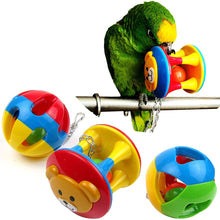 Load image into Gallery viewer, 2TRIDENTS Colorful Parrot Ball Toy Chewing Biting Toy for Birds Hanging Toy Cage Decor Entertainment for Pet