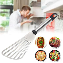 Load image into Gallery viewer, 2TRIDENTS Stainless Steel Non Stick Thin Turner Spatula for Cooking Fish Baking Flipping Egg Cooking Improvement Tool