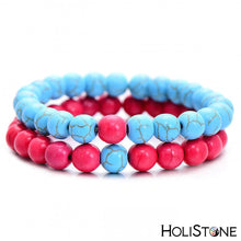 Load image into Gallery viewer, HoliStone Turquoise Stone Beads Double Layer Bracelet ? Anxiety Stress Relief Yoga Beads Bracelets Chakra Healing Crystal Bracelet for Women and Men