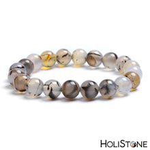 Load image into Gallery viewer, HoliStone Purple Tiger Eye Stone Beads Bracelet ? Anxiety Stress Relief Yoga Beads Bracelets Chakra Healing Crystal Bracelet for Women and Men