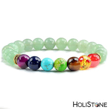 Load image into Gallery viewer, HoliStone 7 Chakra & Lava Stone Beaded Charm Bracelet for Women and Men ? Anxiety Stress Diffuser Balance with Reiki Healing