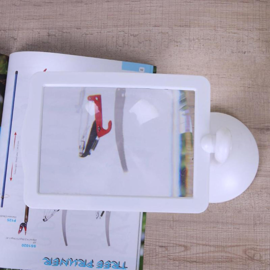 2TRIDENTS 3X LED Screen Page Magnifying 5.91x5.31x8.66inches Loupe Magnifier Glass Reading
