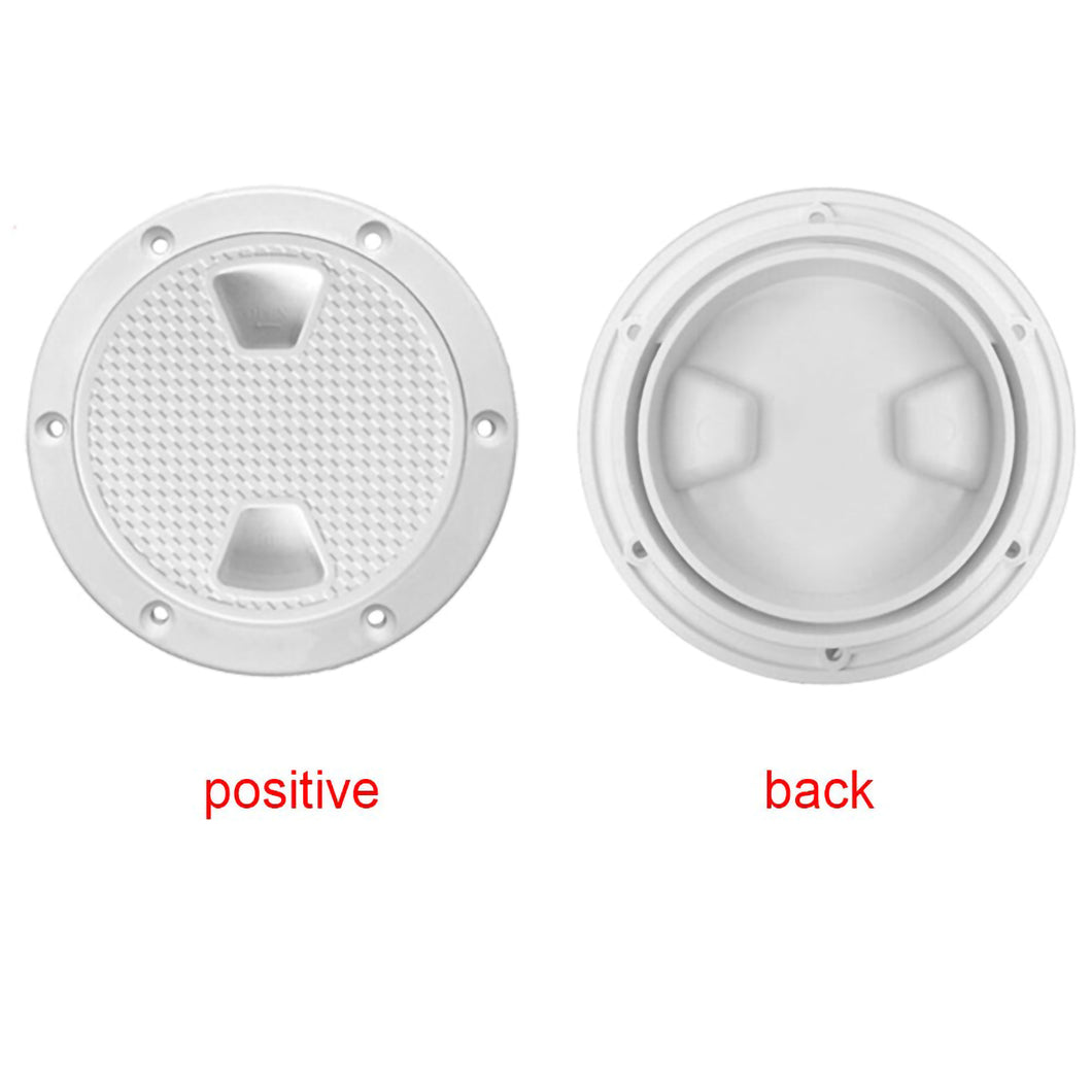 2TRIDENTS 4-Inch Non-Slip Durable Hatch Cover Round Plate Anti Corrosive for Interior and Exterior Applications