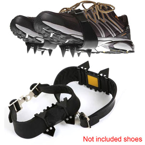 2TRIDENTS 4-Teeth Traction Cleats for Snow, Hiking, Jogging, Climbing and Mud - Ideal for All Shoes, Boots, Sneakers, Sandals and Loafers