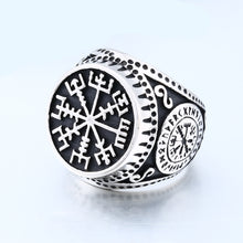Load image into Gallery viewer, ENXICO Vegvisir The Viking Runic Compass Ring ? 316L Stainless Steel ? Norse Scandinavian Viking Jewelry (10)