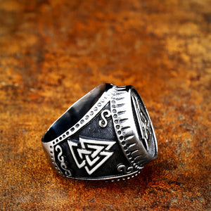 ENXICO Odin's Symbol The Valknut Ring ? 316L Stainless Steel ? Norse Scandinavian Viking Jewelry (10)