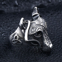 Load image into Gallery viewer, ENXICO Fenrir Wolf Head Ring ? 316L Stainless Steel ? Norse Scandinavian Viking Jewelry