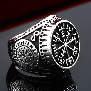 ENXICO Vegvisir The Viking Runic Compass Ring ? 316L Stainless Steel ? Norse Scandinavian Viking Jewelry (10)