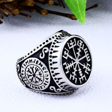 Load image into Gallery viewer, ENXICO Vegvisir The Viking Runic Compass Ring ? 316L Stainless Steel ? Norse Scandinavian Viking Jewelry