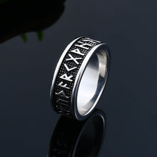 Load image into Gallery viewer, ENXICO Rune Circle Ring ? 316L Stainless Steel ? Norse Scandinavian Viking Jewelry