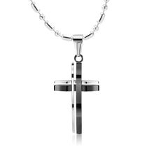 Load image into Gallery viewer, GUNGNEER Stainless Steel Cross Necklace Christian Pendant Jewelry Accessory For Men Women