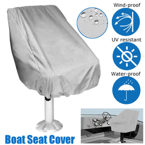 2TRIDENTS Single Boat Seat Cover with Adjustable Cord End for Easy Use - Weather Resistant - Non Scratch Protection