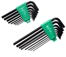 Load image into Gallery viewer, 2TRIDENTS Set of 8 Pcs L-Wrench Hex Key Set with Anti Slip Coating - Perfect for Turning Screws Must-have Items (lengthen)