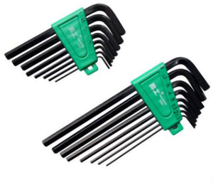 2TRIDENTS Set of 8 Pcs L-Wrench Hex Key Set with Anti Slip Coating - Perfect for Turning Screws Must-have Items (lengthen)