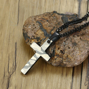 GUNGNEER Army Soldier Cross Necklace Christ Pendant Jewelry Accessory Outfit For Men Women