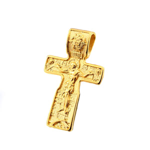 GUNGNEER Stainless Steel Christ Cross Pendant Necklace Jesus Chain Jewelry For Men Women