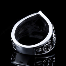 Load image into Gallery viewer, GUNGNEER Pentagram Skull Stainless Steel Ring Leather Bracelet Power Jewelry Set Men Women