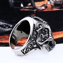Load image into Gallery viewer, GUNGNEER Masonic Ring Black Skull Multi-size Stainless Steel Freemason Symbol Jewelry For Men