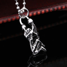 Load image into Gallery viewer, GUNGNEER Skeleton Skull Gothic Vampire Necklace Ring Stainless Steel Jewelry Set Men Women