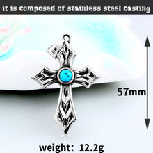 Load image into Gallery viewer, GUNGNEER Cross Pendant Necklace Stainless Steel Christ Jewelry Accessory For Men Women