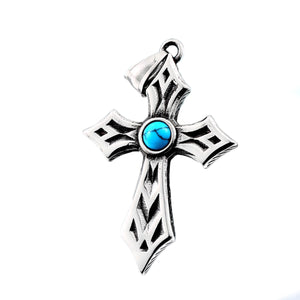 GUNGNEER Cross Pendant Necklace Stainless Steel Christ Jewelry Accessory For Men Women