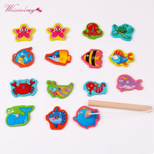 Load image into Gallery viewer, 2TRIDENTS Baby Safe Funny Educational Toy Box Fishing Wooden Game Gift for Girl Boy Kids