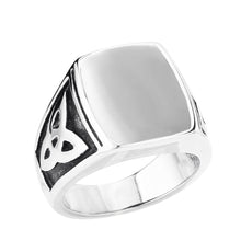 Load image into Gallery viewer, GUNGNEER Celtic Knot Triquetra Stainless Steel Ring Amulet Jewelry Accessories for Men Women