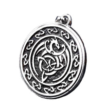 Load image into Gallery viewer, GUNGNEER Celtic Knot Dragon Trinity Pendant Stainless Steel Jewelry for Men Women