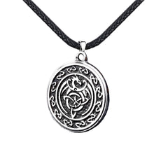 Load image into Gallery viewer, GUNGNEER Celtic Knot Dragon Trinity Pendant Necklace Stainless Steel Jewelry for Men Women
