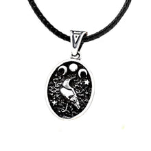 Load image into Gallery viewer, GUNGNEER Stainless Steel Nordic Viking Raven Pendant Necklace Jewelry Gift for Men Women