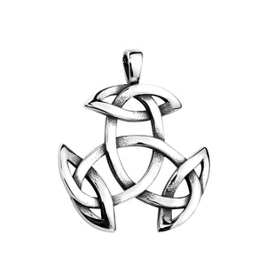 GUNGNEER Celtic Knot Triquetra Trinity Pendant Necklace Runes Ring Stainless Steel Jewelry Set