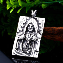 Load image into Gallery viewer, GUNGNEER Stainless Steel Gothic Claw Pirate Skull Skeleton Pendant Ring Men Women Jewelry Set